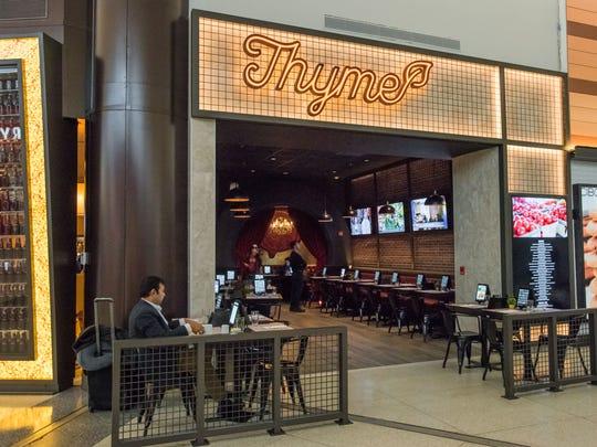 Thyme, a new vegetarian restaurant at Newark Liberty International Airport.