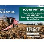 Crop insurance meetings for farmers set