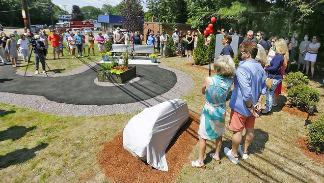 Nearly a  hundred friends, family and officials gathered Sunday on Washington  Street in South Braintree to dedicate a park to Lucas Flint who was struck by a car and killed in 2018. Lucas was an organ donor and he helped five other people live after his death.