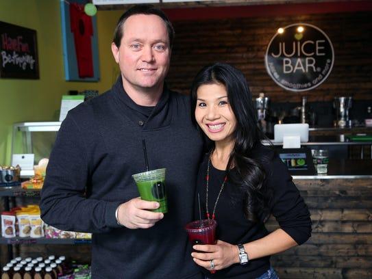 John and Vui Hunt of I Love Juice Bar and Vui's Kitchen