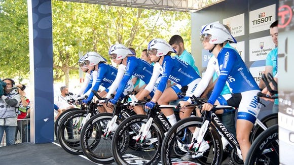 Lauren Tamayo of Asheville and her UnitedHealthcare teammates placed 6th at the UCI World Championships Team Time Trial Sunday in Spain.