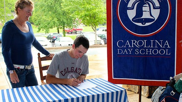 Carolina Day senior Scott Adams has signed to play college golf for Colgate.