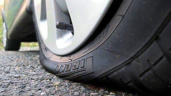 Jackson police are investigating a tire slashing.