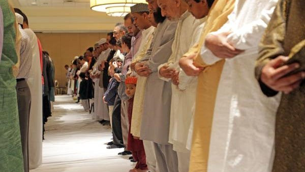 Muslims prayed on the first day of Eid-al-Fitr at a 2012 celebration sponsored by the Upper Westchester Muslim Society at the Westchester Marriott Hotel. Carucha L. Meuse/ The Journal News