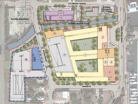 Tampa-based Framework Group proposes developing the site of the  former H.D. King power plant into a mixed-use development with a 120-room hotel with restaurant and retail on the ground floor, 200 apartments and a 34,000-square-foot conference center with a parking garage.