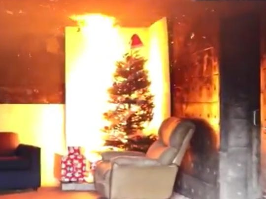 More than 200 home fires are attributed to Christmas trees every year.