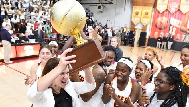 The Jones County Junior College women's basketball team recently won the MACJC championship.