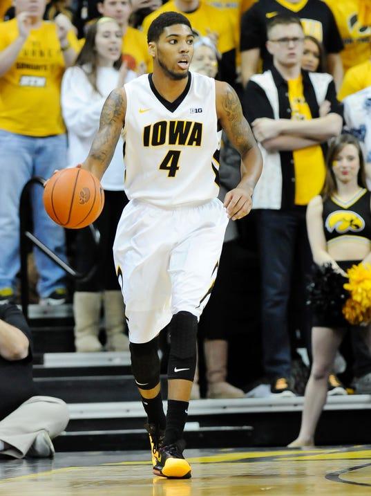 USP NCAA Basketball_ Michigan at Iowa