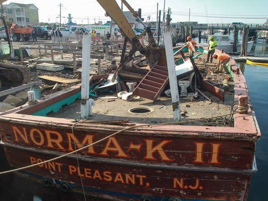 Pt pleasant beach party boat norma k ii laid to rest for Point pleasant fishing boats