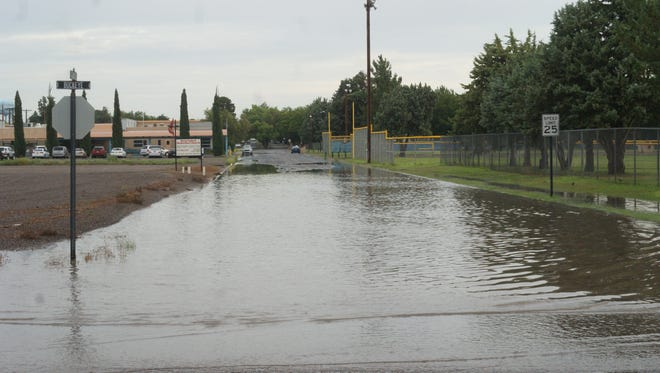 The intersection of Granite and Buckeye Streets is notorious in town for flooding during monsoon season.