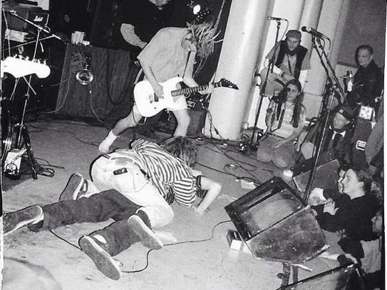 Newark hardcore act Walleye perform at the Firefest music festival in 1992 with Nick Rotundo on guitar at St. Matthew's Catholic Church in Wilmington.