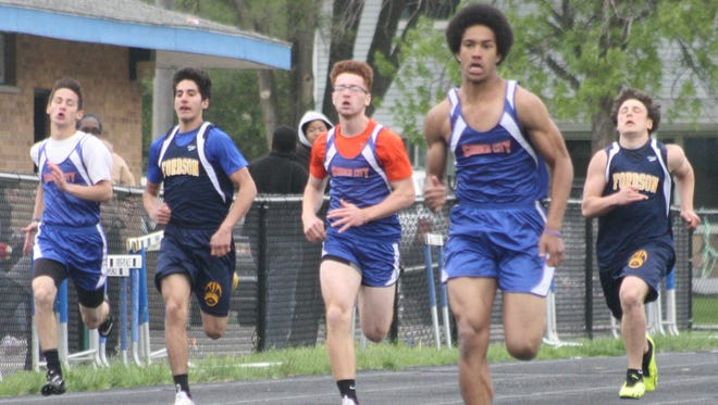 Garden City's Eian Castonguay easily won the 200-meter dash during Tuesday's meet against Fordson.
