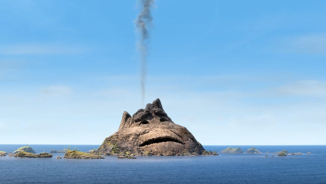 """A lonely volcano yearns for a mate in the Pixar short """"Lava."""""""
