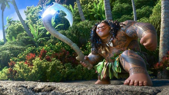 "Dwyane ""The Rock"" Johnson voices Maui in 'Moana.'"