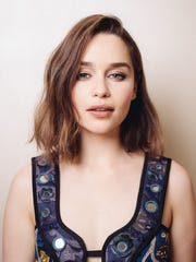 """Emilia Clarke poses for a portrait during press day for """"Terminator Genisys"""" at The Four Seasons in Los Angeles."""