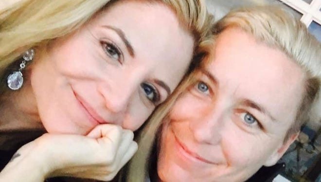 This is the picture Glennon Doyle Melton, left, posted of her and Abby Wambach on Facebook.