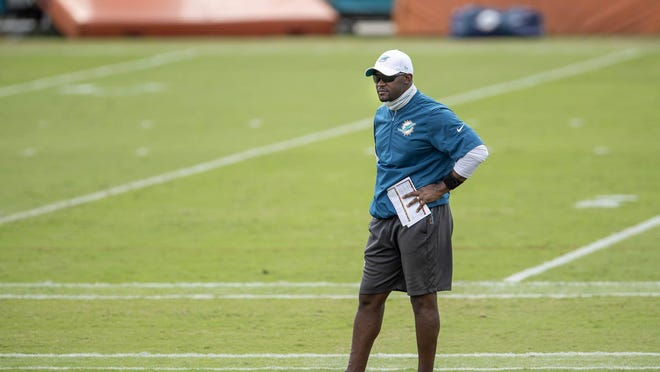 Miami Dolphins head coach Brian Flores at training camp.