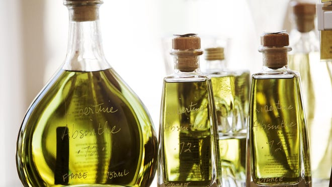 Absinthe comes in different proofs and sizes. These are available at VOM FASS at the Marcato in Naples.