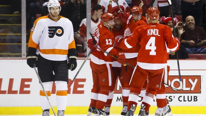 After two goals in 89 seconds by Detroit, the Flyers weren't the same.