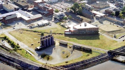 The Northwest Triangle when Ohio Blenders' grain silos still stood.
