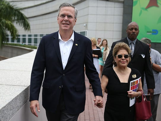 Jeb Bush and his wife, Columba.
