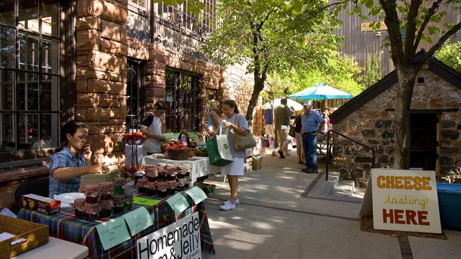 The farmers market features a variety of vendors from all across Washington and Iron counties selling seasonal produce, fruits and vegetables.
