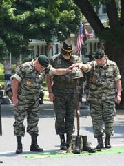 A field ceremony carried out as a remembrance of soldiers