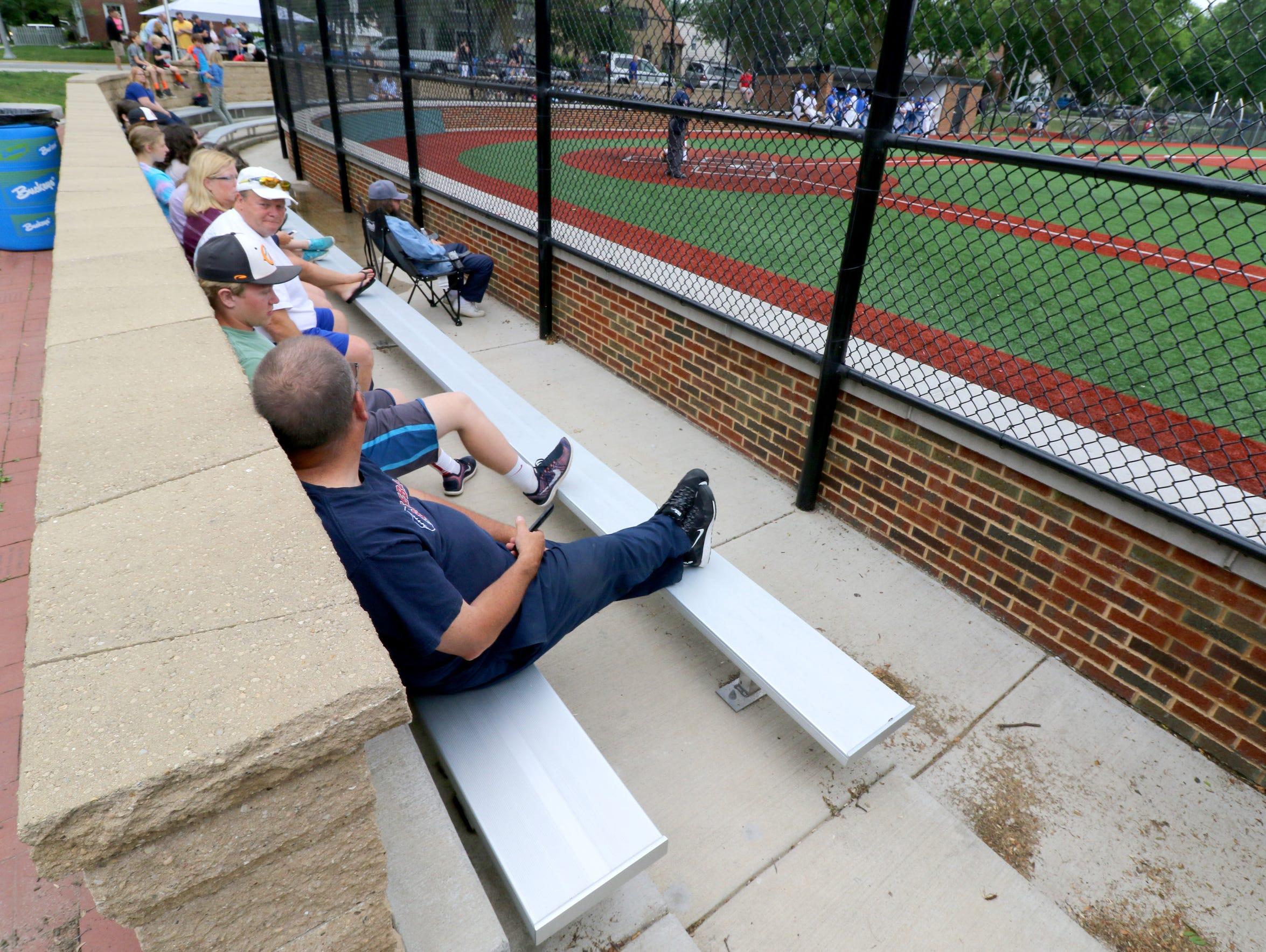 The Cahill Park baseball stadium is depressesed into