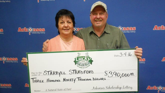 Starryll Stradford, winner of the Lucky for Life lottery and his wife, Ann.