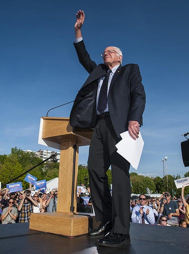 Vermont Sen. Bernie Sanders announces he is a candidate for the Democratic nomination for president at Waterfront Park in Burlington on Tuesday, May 26, 2015.