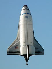 The Space Shuttle balloon will be joined at the Mississippi