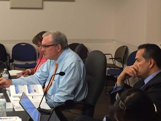From left, City Attorney Sylvia Borunda Firth, Mayor