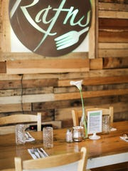 The Rafns constructed restaurant tables from old pallets