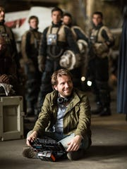 Director Gareth Edwards enjoys himself on the 'Rogue