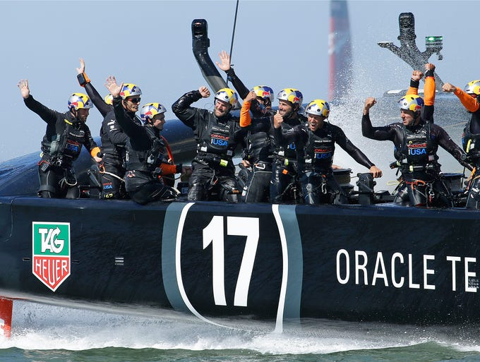 <p>On Wednesday, Oracle Team USA capped off a shocking comeback to win the 2013 America's Cup. Oracle had once trailed 8-1 before going on an eight-race winning streak to edge Emirates Team New Zealand for the win. Inspired by Oracle's unfathomable comeback, we took a look through the archives and rounded up other great sports comebacks through the years.</p>