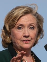 Hillary Clinton speaks Sunday at the Harkin Steak Fry.