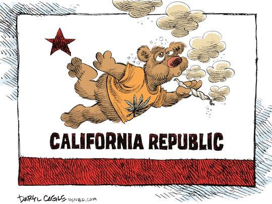 Daryl Cagle, CagleCartoons.com, drew this editorial cartoon.