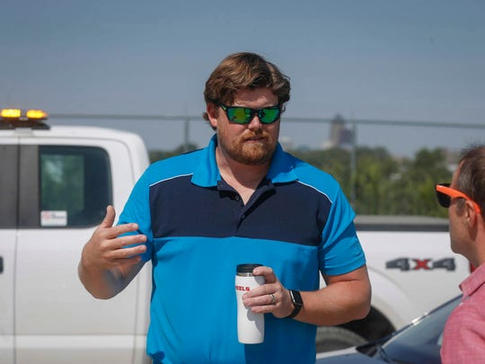 James Beck, an engineer Des Moines Metropolitan Wastewater Reclamation Authority, recently called out a discrepancy on a contract for work done at the site which the contractor would have gotten tax deductions for.
