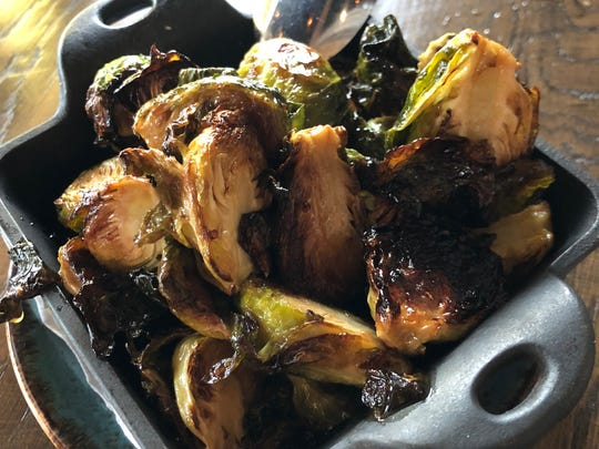 Start your meal off right with a side order of crispy Brussels.