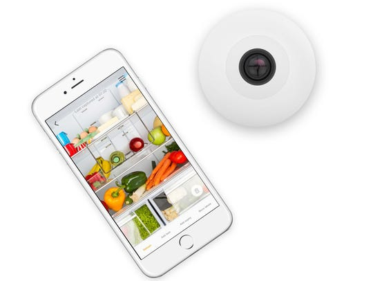 The FridgeCam will let you see what's in your fridge