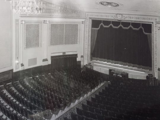 The current, restored version of the theater looks