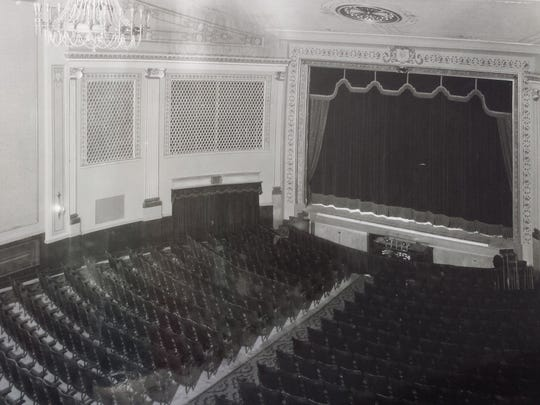The current, restored version of the theater looks much like it appeared in this historic photo.