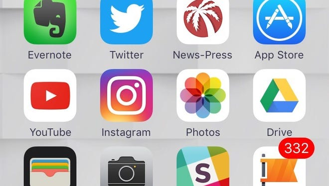 A screenshot collection of apps from an iPhone home screen.