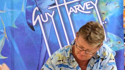 Marine wildlife artist and conservationist, Guy Harvey will be in Greenville for an autograph signing.