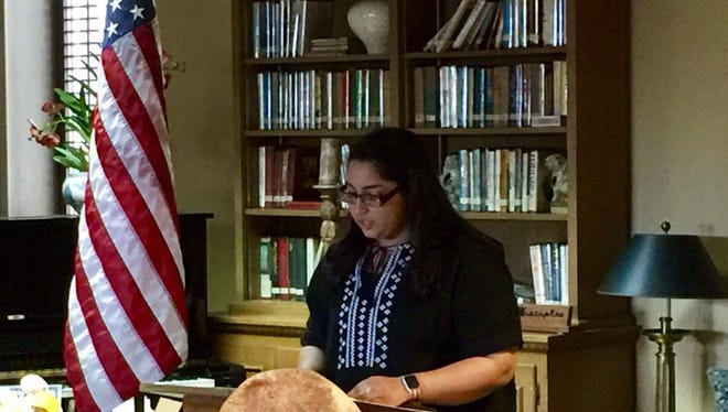 Veteran Memorial High School senior Saherish Surani's essay earned her the Daughters of the American Revolution's Good Citizenship award. The Corpus Christi DAR chapter opened up the essay competition to another 14 local high school students nominated by their schools to participate.