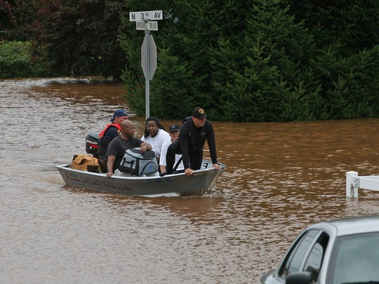 Millstone River flooding is a recurring problem for parts of Manville. Here, residents are rescued by boat after Hurricane Irene in August 2011.