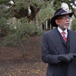 Standing in front of a 200 year old oak tree located on property in Opelousas that his grandfather worked on as a slave, Elbert Guillory announced on Friday his candidacy for the District 4 congressional seat in Louisiana.