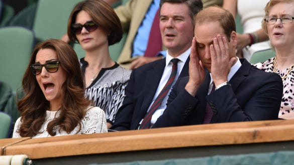 Kate and Will at Wimbledon