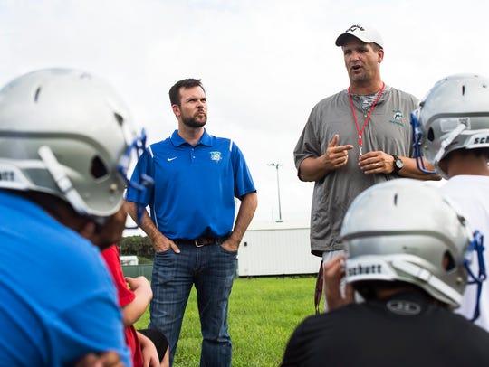 Bonita Springs High School's head coach Rich Dombroski,