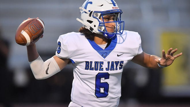 Junction City quarterback Andrew Khoury has thrown for 2,918 yards and 29 touchdowns this season in leading the Blue Jays to a 9-1 record and their first Class 6A state semifinal berth since 2008.
